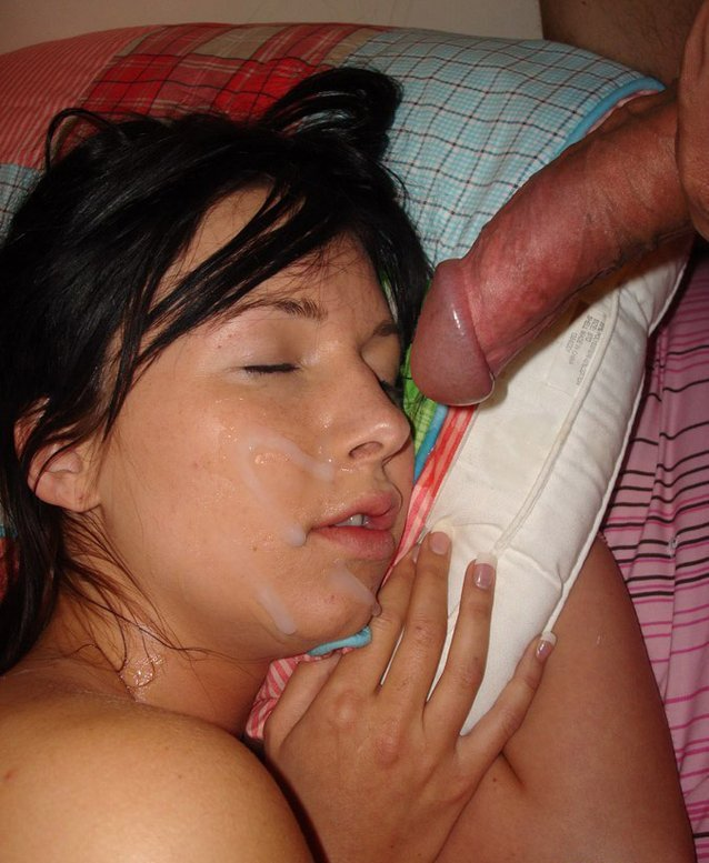 Cum shot facials sleeping